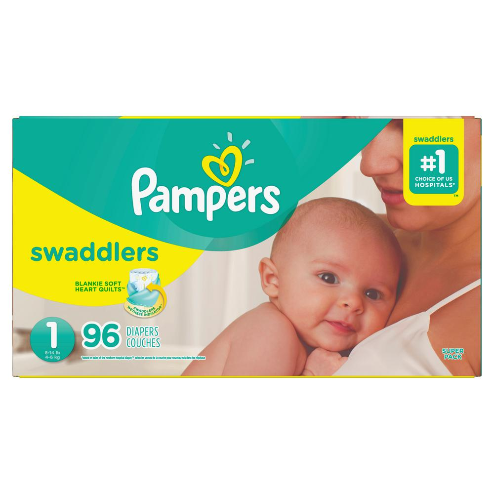 Pampers Swaddlers Size 1 Diapers (96-Count) 164fac86c