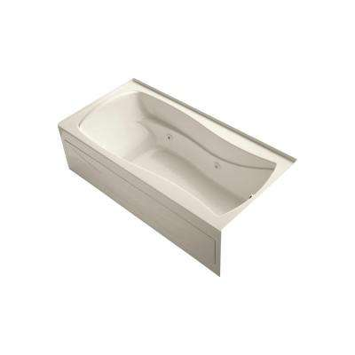 Mariposa 6 ft. Acrylic Right Drain Hourglass Rectangular Alcove Whirlpool Bathtub in Almond