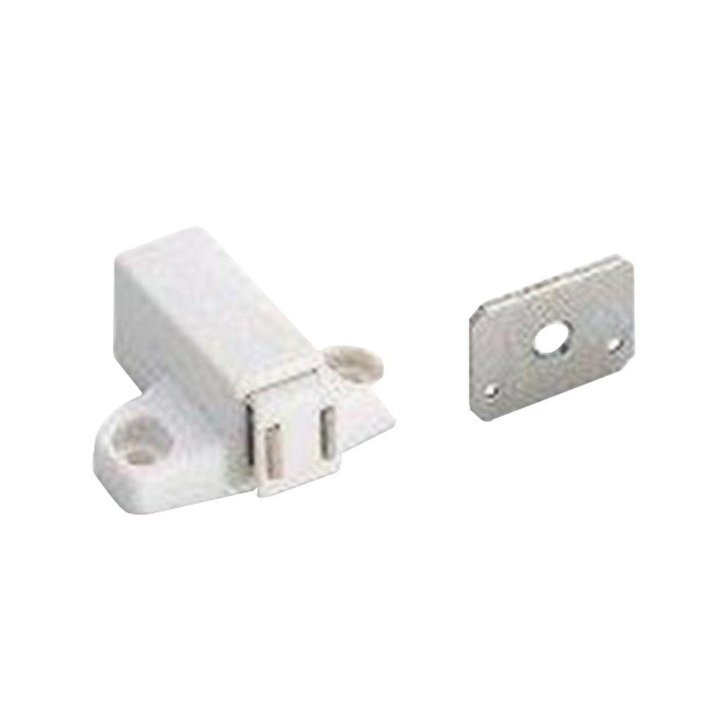 Amerock Magnetic Touch White Latch With Strike Bp32301w