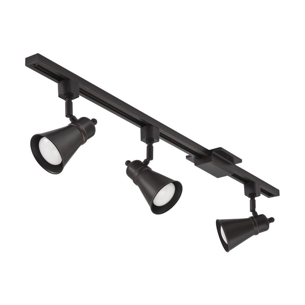 how to track lighting. Shade Baffle 3-Light Oil-Rubbed Bronze LED Track Lighting Kit How To