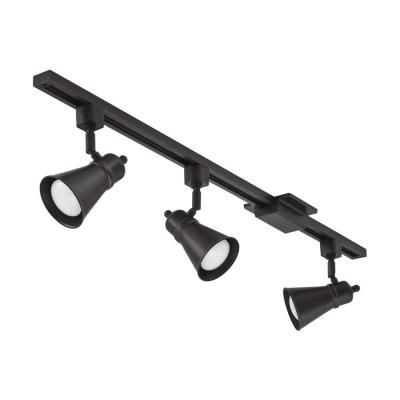 Shade Baffle 3-Light Oil-Rubbed Bronze LED Track Lighting Kit