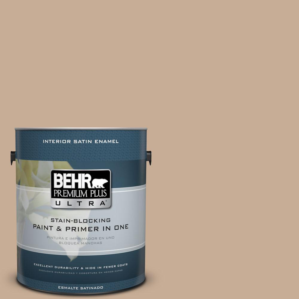 1 gal. #280E-3 Toasted Wheat Satin Enamel Interior Paint and Primer