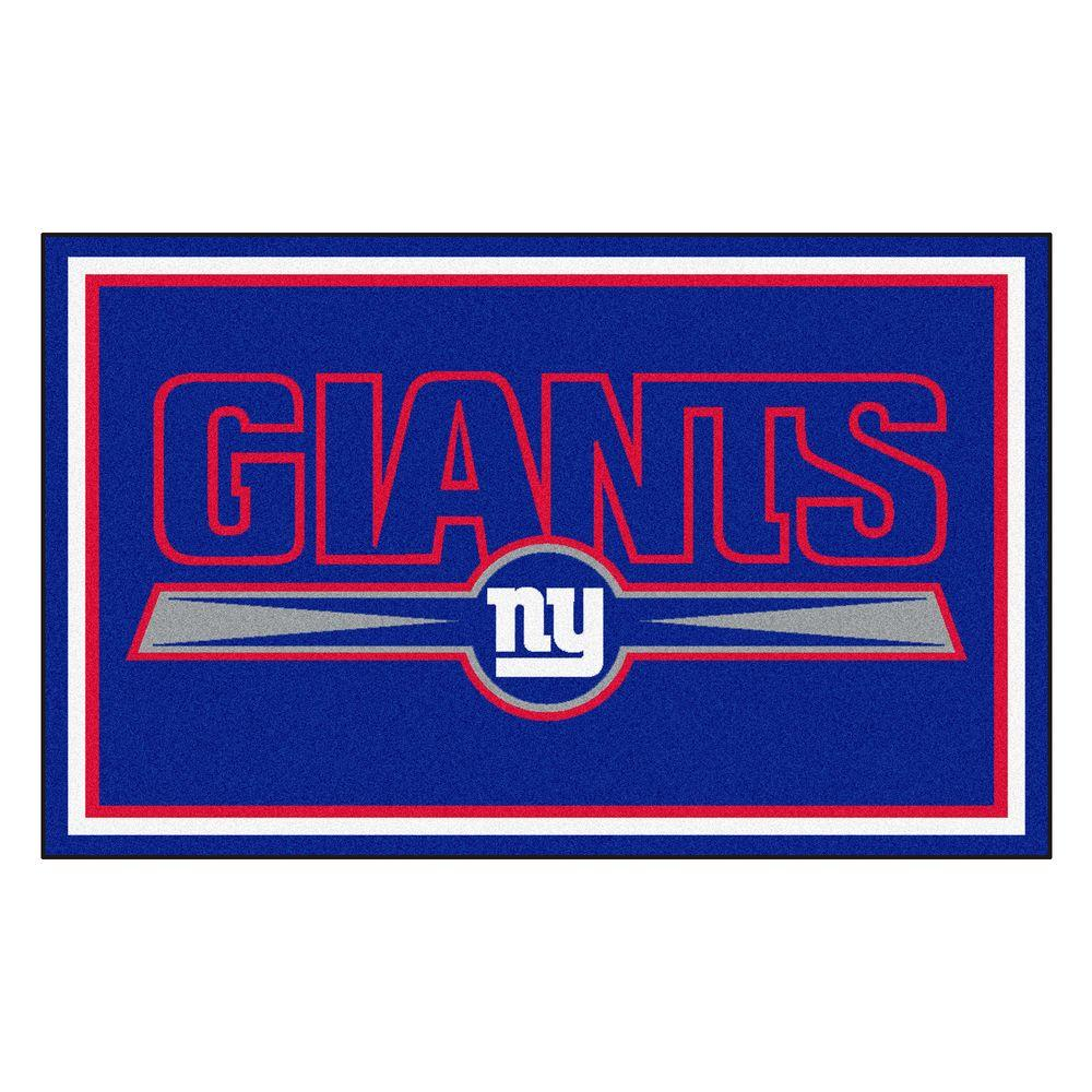 Fanmats New York Giants 4 Ft X 6 Ft Area Rug 6594 The