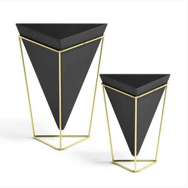 Trigg Small Plus Large Black/Brass Tabletop (2-Set)