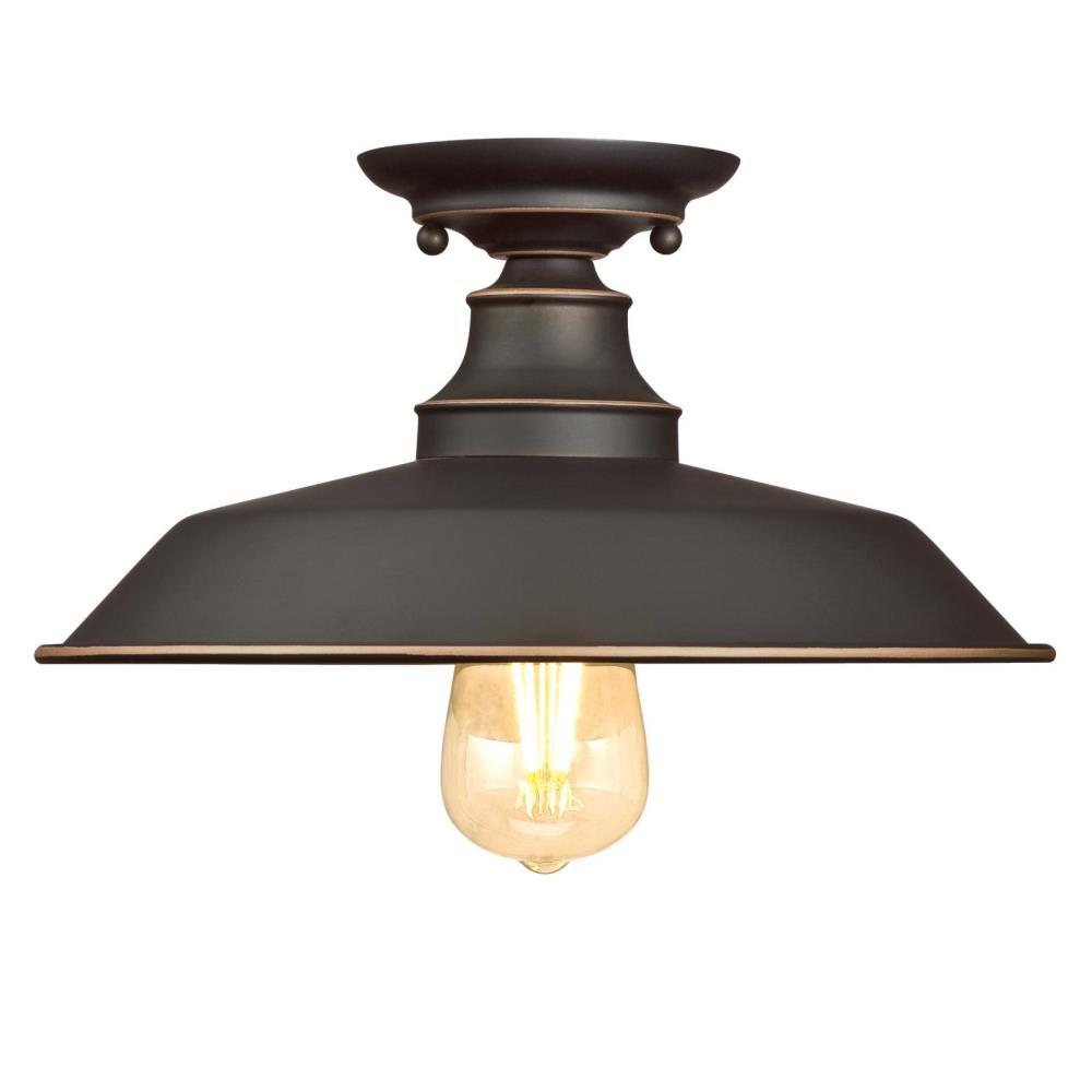 Westinghouse Iron Hill 12 In 1 Light Oil Rubbed Bronze With Highlights Semi Flush Mount