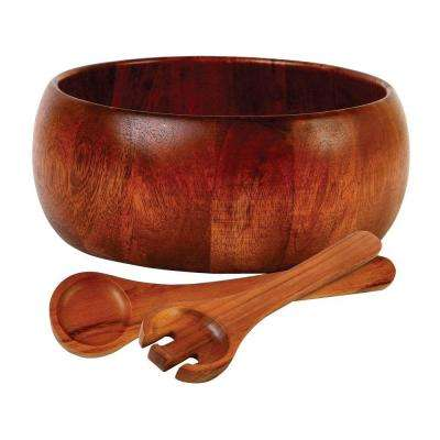 Home La Roda Wood Salad Set (3-Piece)