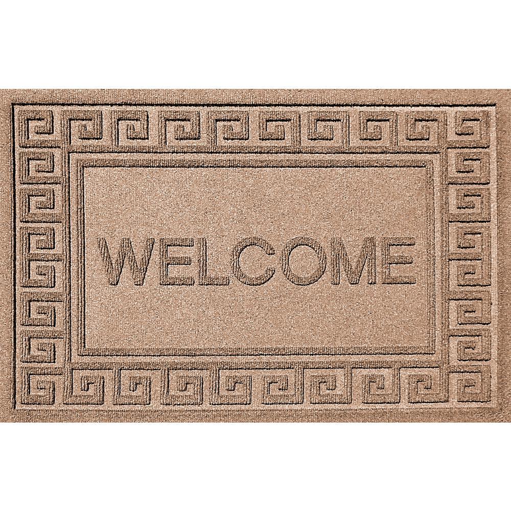 Greek Welcome Medium Brown 24x36 Polypropylene Door Mat