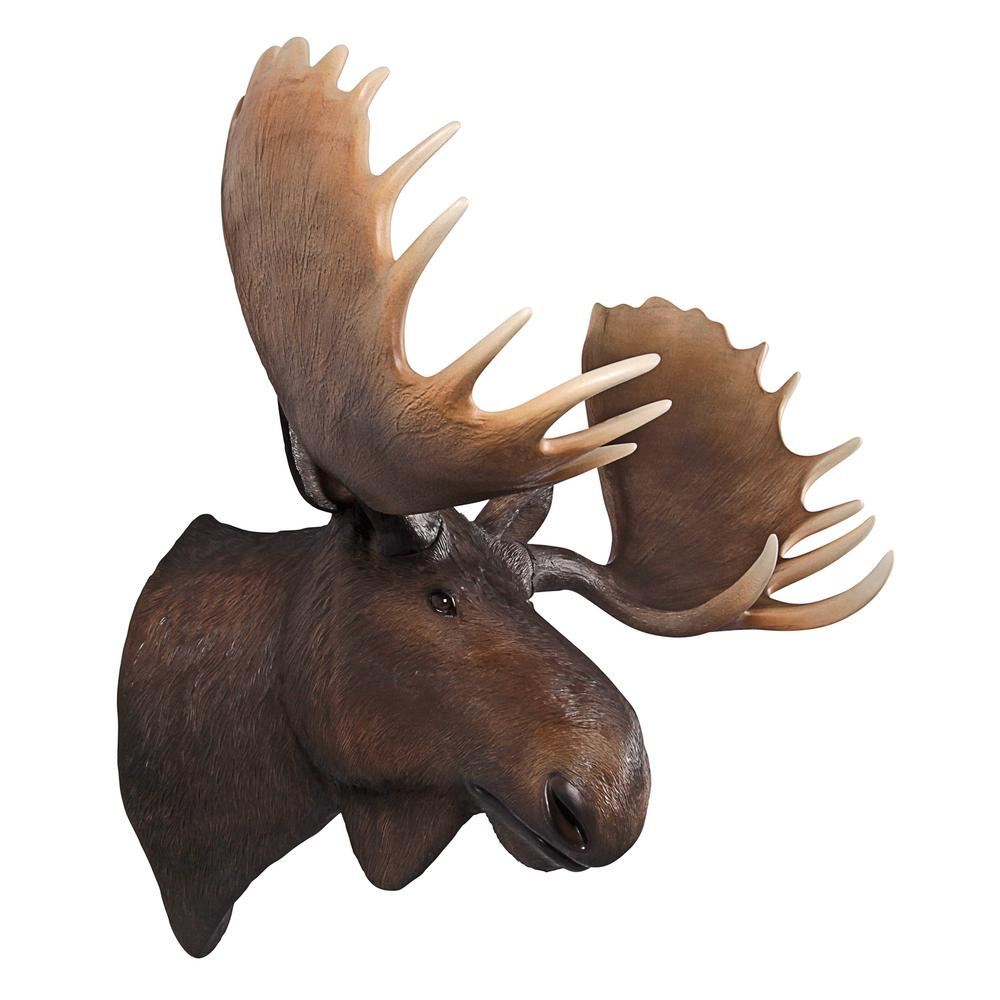 40.5 in H. North American Majestic Moose Trophy Head Wall Sculpture