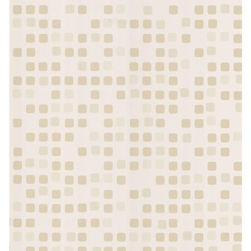 Brewster Sea Glass Tile Wallpaper, Ivory
