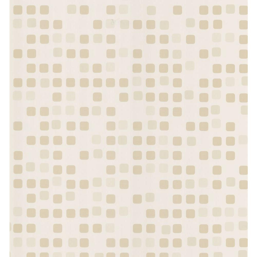 Brewster kitchen and bath resource ii cream sea glass tile for Kitchen and bathroom wallpaper