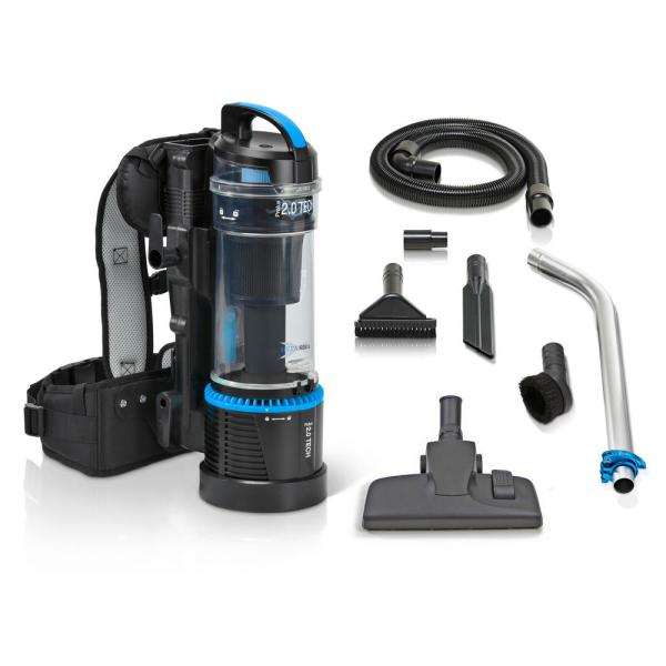 2019 Cordless 1 Hour 2.0 Bagless Backpack Vacuum with 1-1/2 in. Commercial Attachment Kit