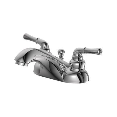 Prestige Collection 4 in. Centerset 2-Handle Bathroom Faucet with 50/50 Pop-up in Chrome