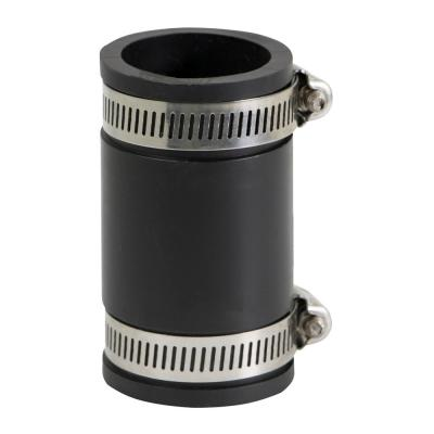 1-1/4 in. PVC Flexible Coupling with Stainless Steel Clamps (Pack of 4)