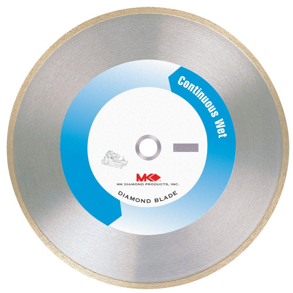 MK Diamond 7 in. Continuous Rim Wet Cutting General Purpose Saw Blade for Tile and Marble