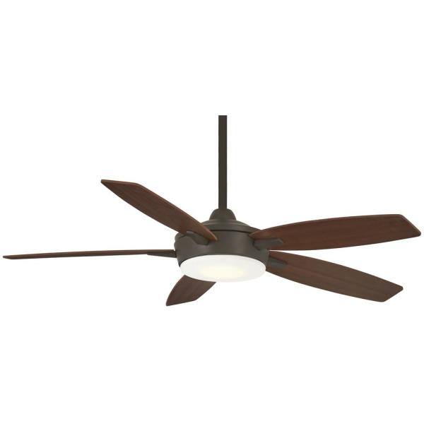Espace 52 in. Integrated LED Indoor Oil Rubbed Bronze Ceiling Fan with Light with Remote Control
