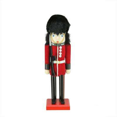 Decorative Wooden Red and Black Royal Guard Christmas Nutcracker - Nutcracker - Christmas Decorations - Holiday Decorations - The Home