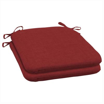 19 x 18 Ruby Leala Texture Outdoor Seat Cushion (2-Pack)