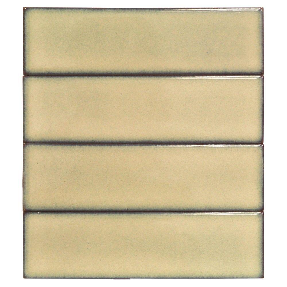 Splashback Tile Vintage Khaki Ceramic Mosaic Floor and Wall Tile - 3 ...