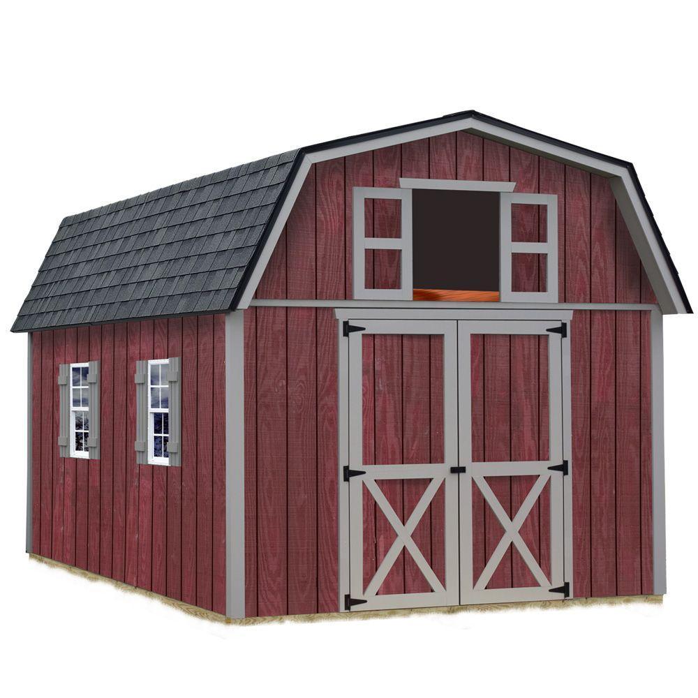 Woodville 10 ft. x 12 ft. Wood Storage Shed Kit