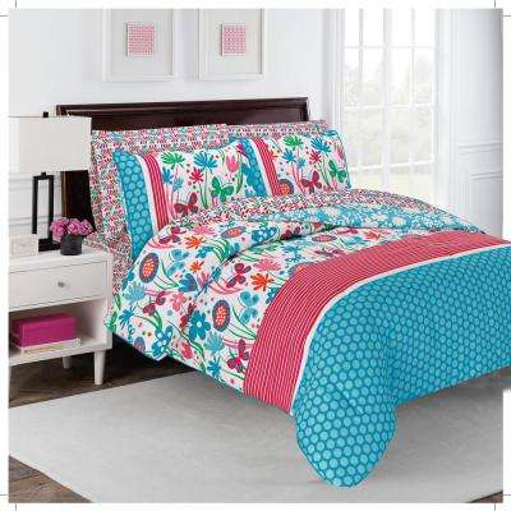 Flirty 7-Piece Multi Floral Queen Comforter Set