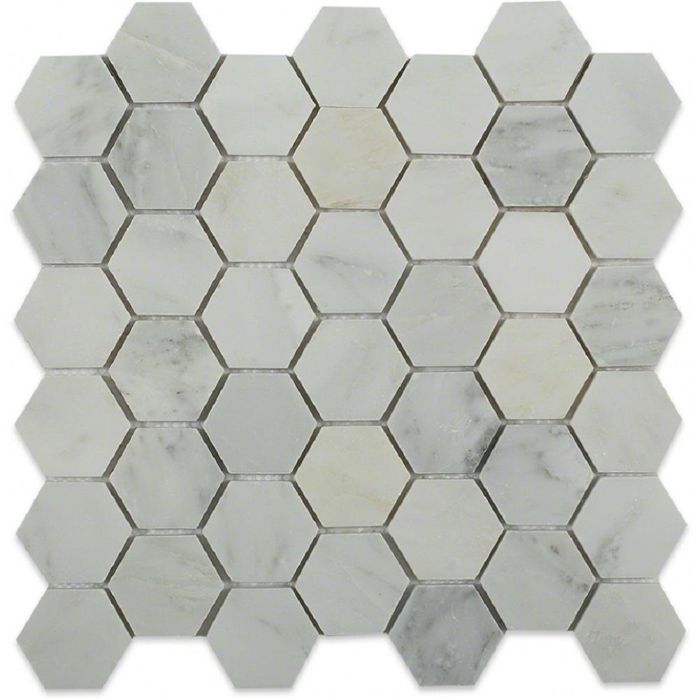 Ivy Hill Tile Oriental Hexagon 12 in. x 12 in. x 8 mm Marble Floor and Wall Tile