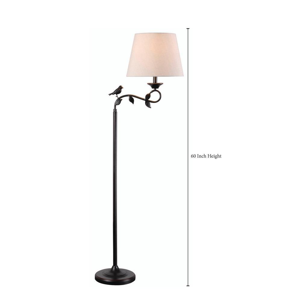 Light Bronze Swing Arm Floor Lamp