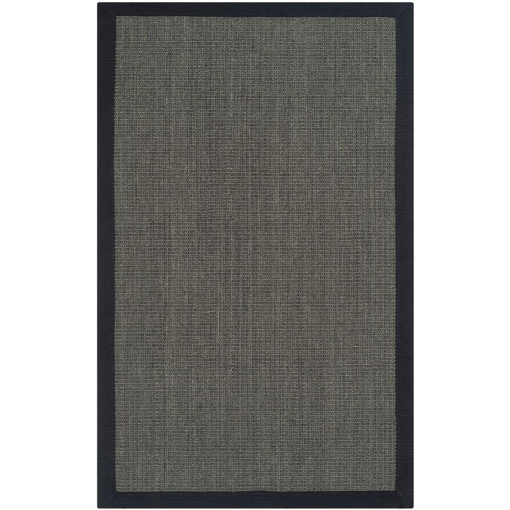 Natural Fiber Charcoal 3 ft. x 5 ft. Area Rug