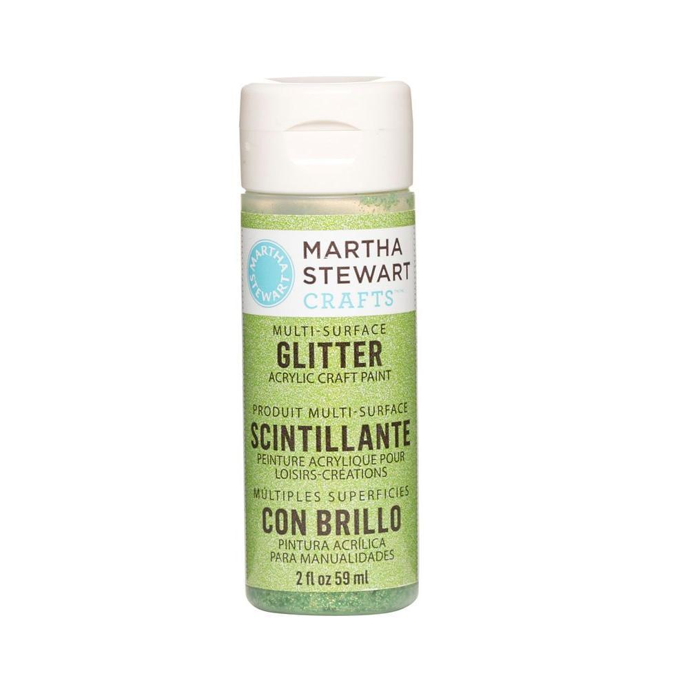 Martha Stewart Crafts 2-oz. Peridot Multi-Surface Glitter Acrylic Craft Paint