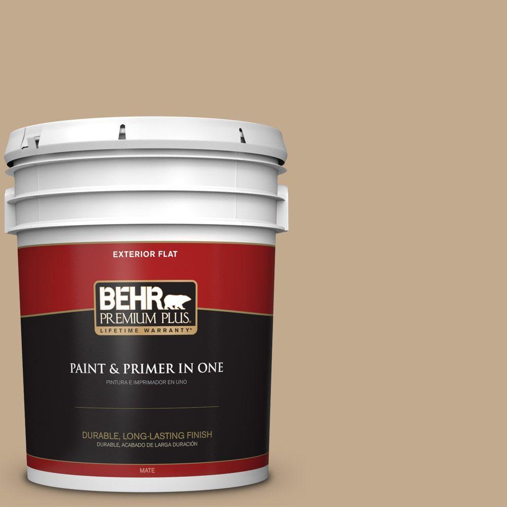 5-gal. #BXC-07 Palomino Tan Flat Exterior Paint