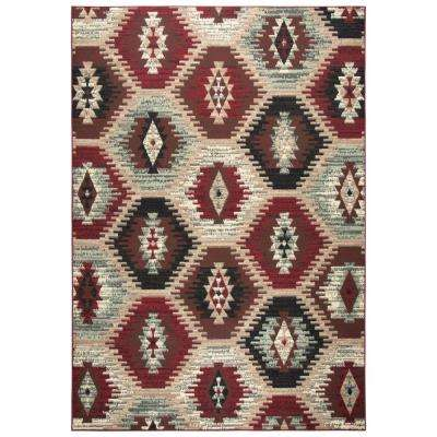 Xcite Brown Southwestern Ikat Machine Made 8 Ft. X 10 Ft. Area Rug