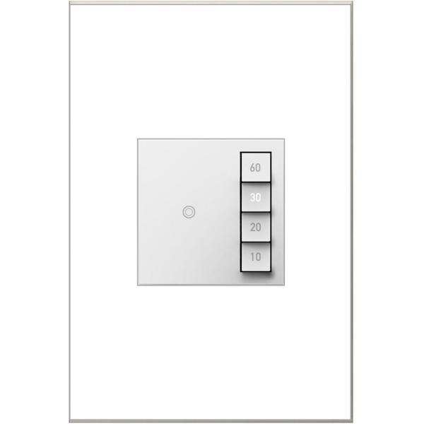 adorne Sensa 15 Amp 60, 40, 20, 10 Minute Single-Pole/3-Way Indoor Countdown Timer Switch, White