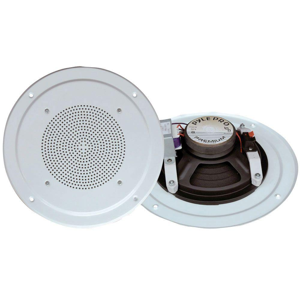 Pyle Full Range In Ceiling Speaker System With Transformer