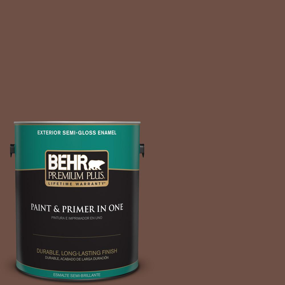 1 gal. #PPU3-19 Moroccan Henna Semi-Gloss Enamel Exterior Paint