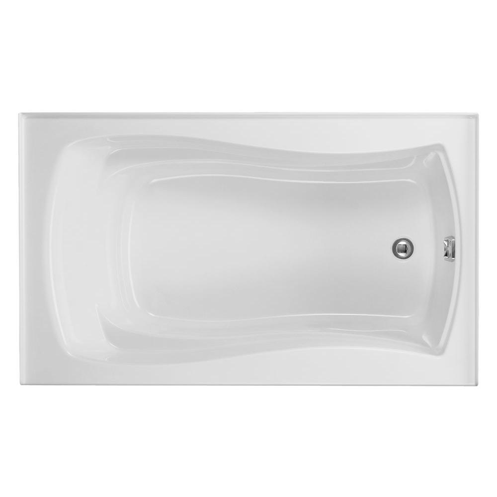 KOHLER Mariposa 5 ft. Right-Hand Drain Acrylic Soaking Tub in White ...