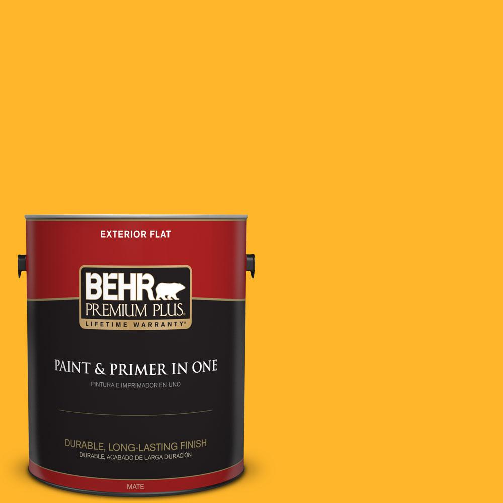 1-gal. #P260-7 Extreme Yellow Flat Exterior Paint