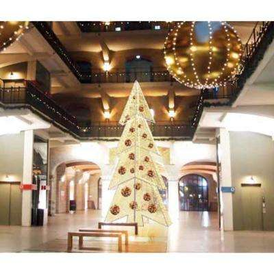 252 in. Pre-Lit Giant Commercial Grade LED Waterloo Christmas Tree with Warm White Lights
