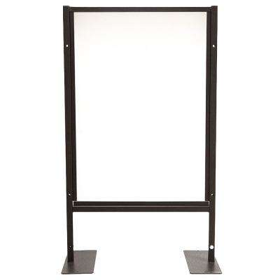 24 in. x 41 in. x 1 in. Protective Sneeze Plexi Shield - Tabletop with Feet