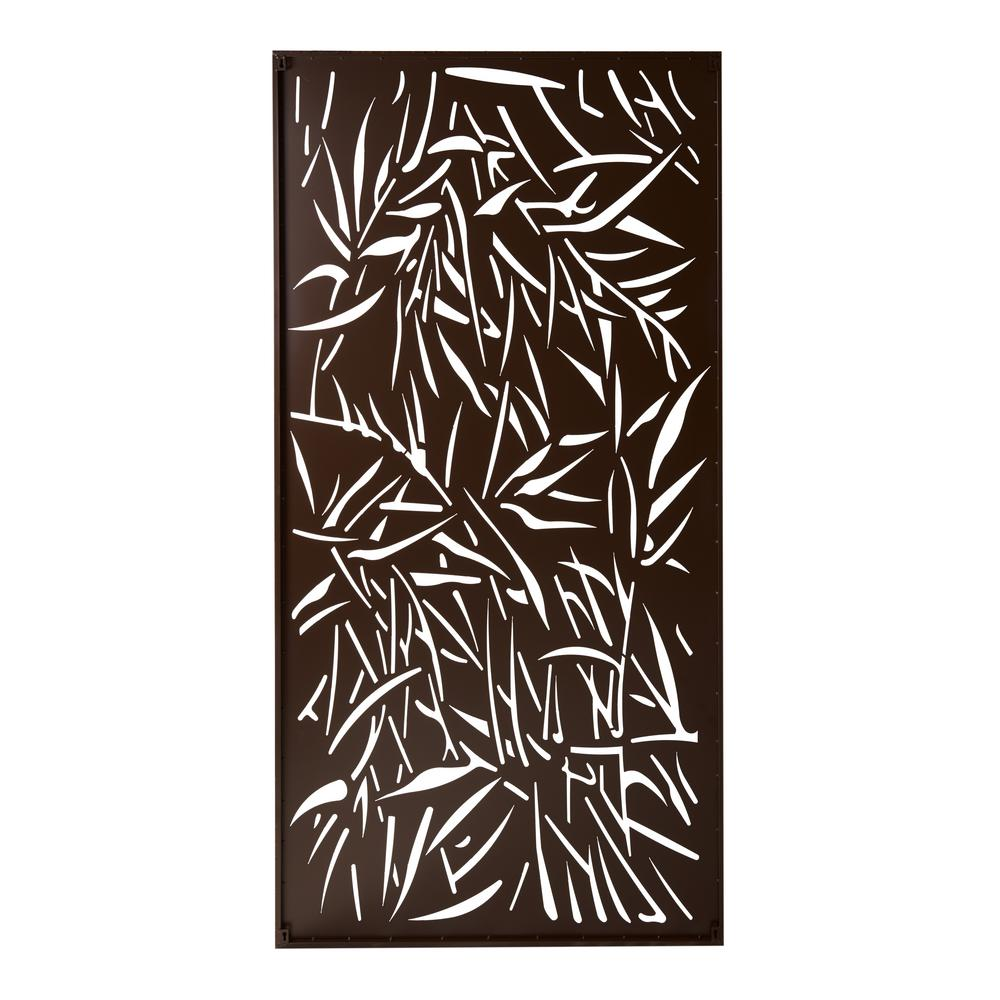Stratco Privacy Screen Wall Art Panel 4 x 2 Jungle Design with Rustic