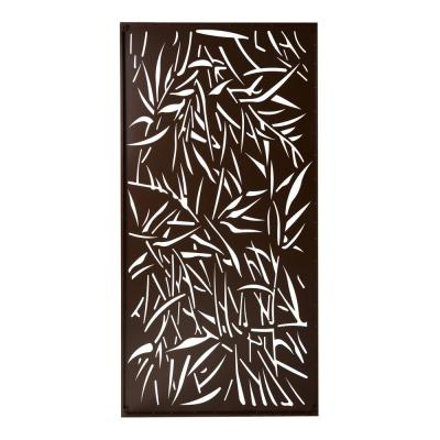 Privacy Screen Wall Art Panel 4 x 2 Jungle Design with Rustic
