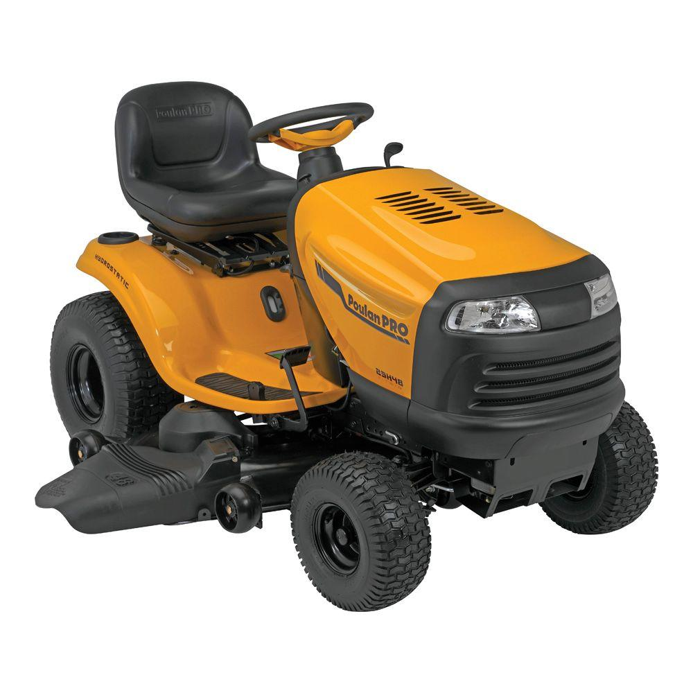 Poulan PRO PB23H48YT 48 in. 23 V-Twin HP Briggs and Stratton Hydrostatic Gas Front Engine Riding Mower-DISCONTINUED