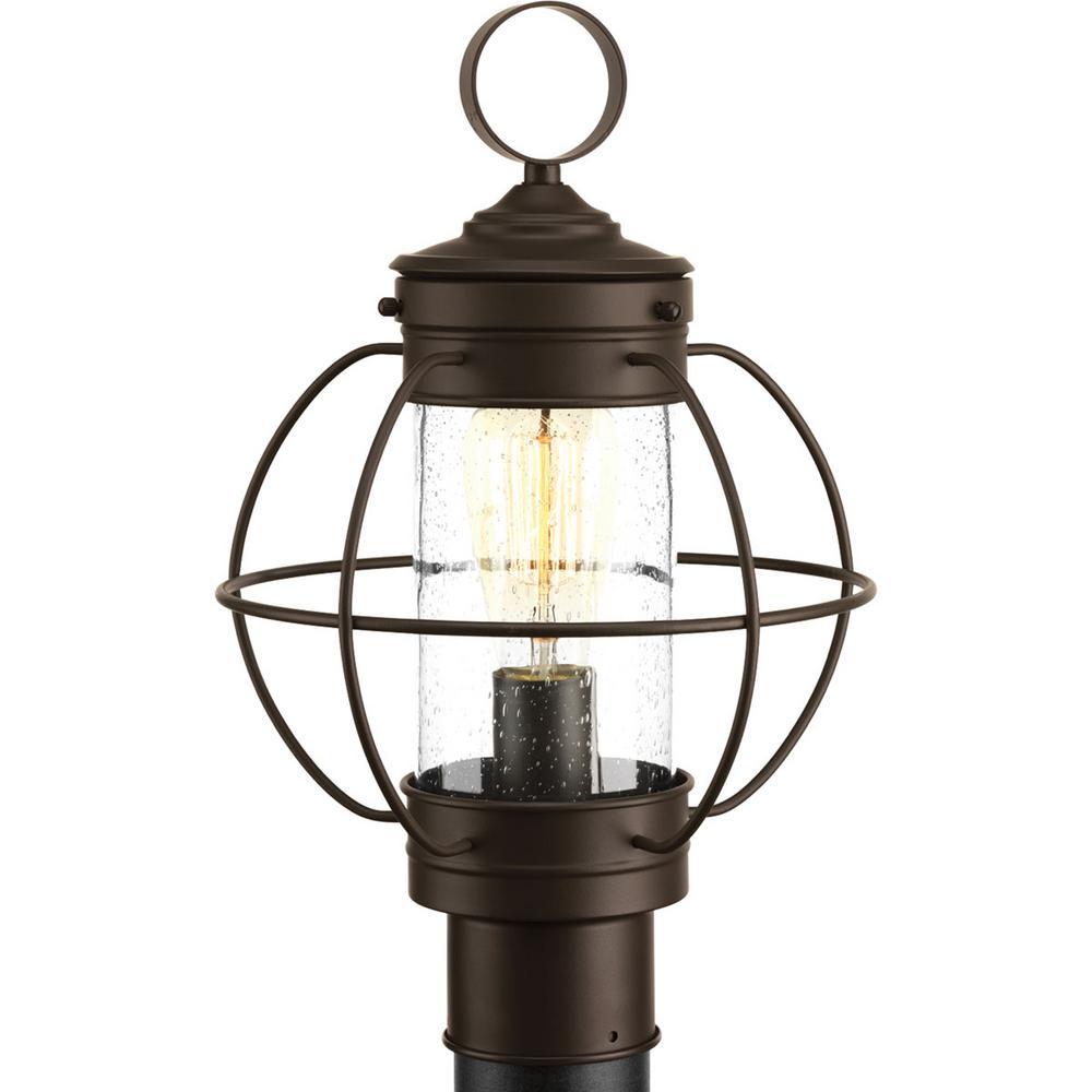 Progress lighting haddon collection 1 light outdoor antique bronze progress lighting haddon collection 1 light outdoor antique bronze post lantern mozeypictures Images