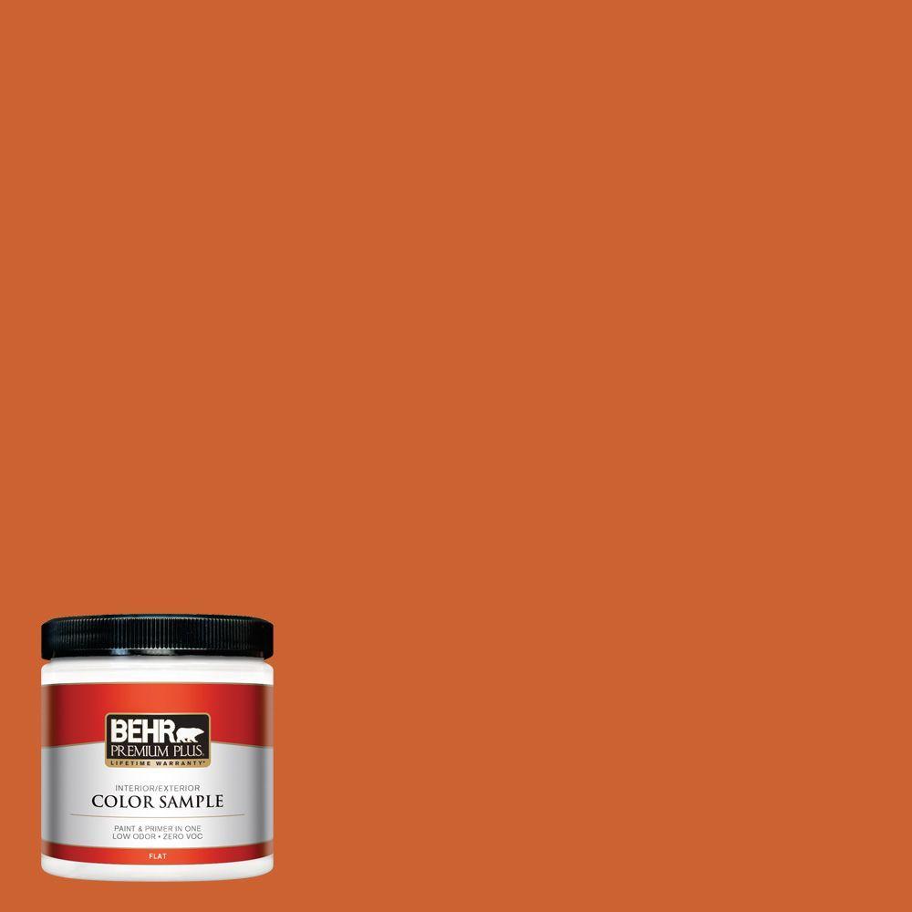 BEHR Premium Plus 8 oz. #S-H-250 Pumpkin Patch Interior/Exterior Paint Sample