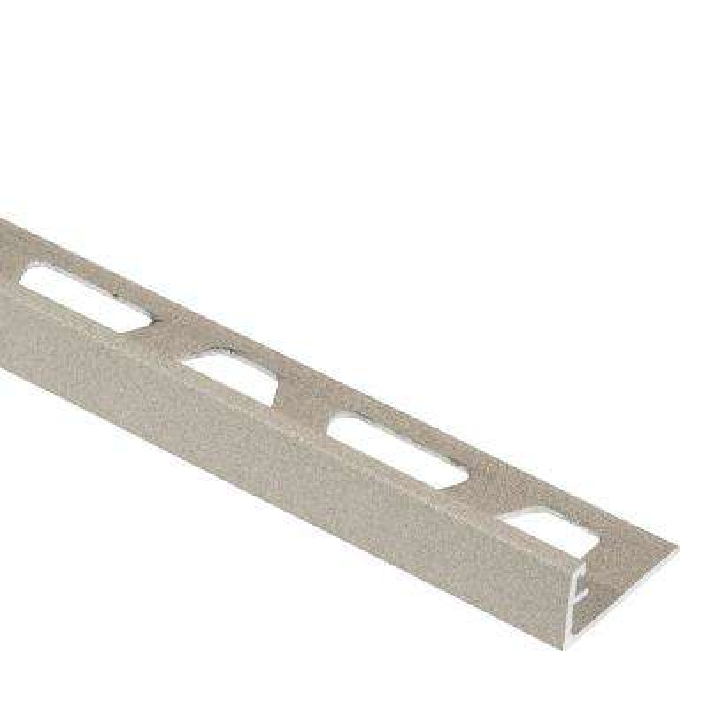 Jolly Cream Textured Color-Coated Aluminum 3/8 in. x 8 ft. 2-1/2 in. Metal Tile Edging Trim