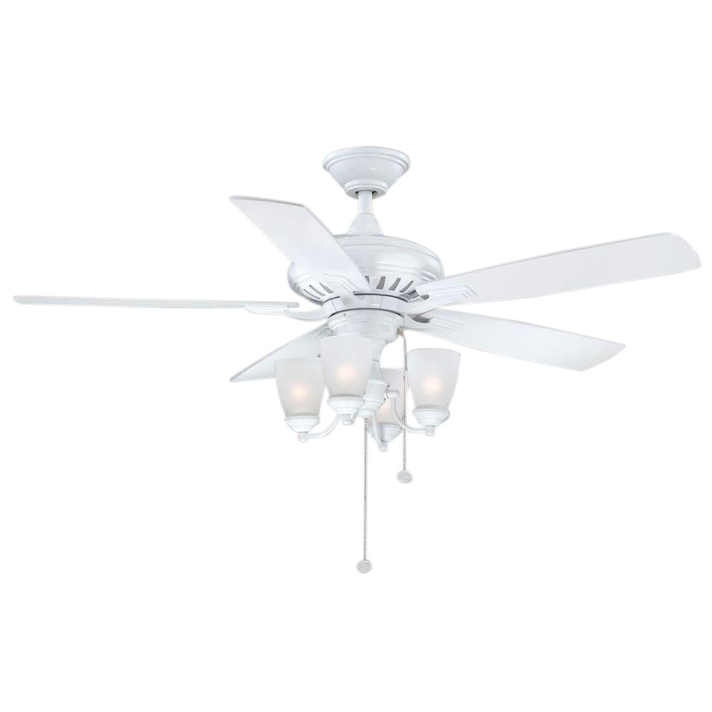 Bristol Lane 52 in. Indoor White Ceiling Fan with Light Kit