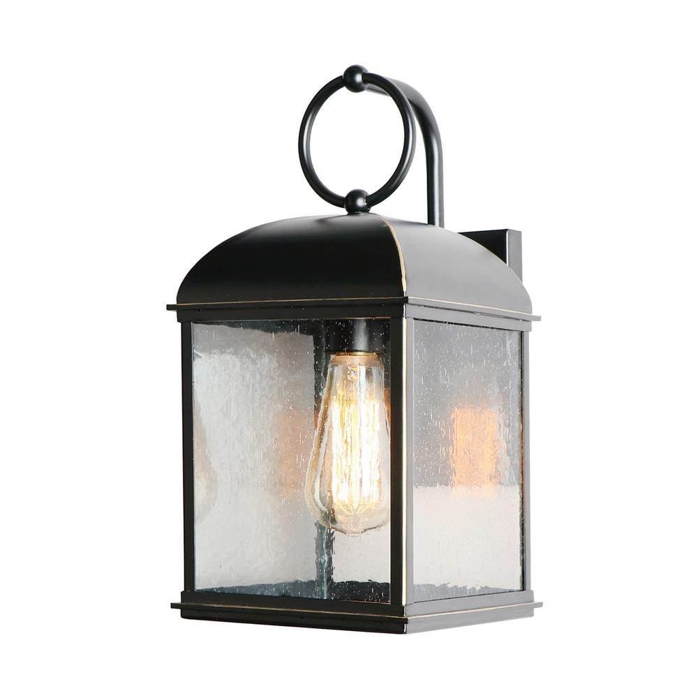 Imperial Home Decor: Y Decor 1 Light 14 In. Outdoor Imperial Black Wall Mount