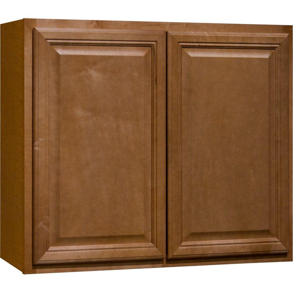 Hampton bay cambria assembled 36x30x12 in wall kitchen for Assembled kitchen cabinets