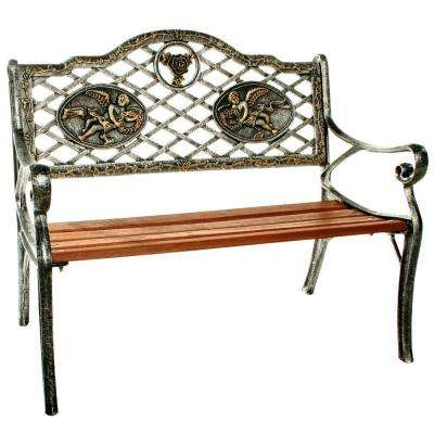 Angel Antique Pewter Kiddie Patio Bench