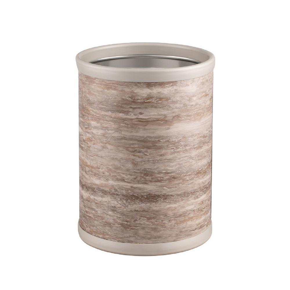 Quarry 8 Qt. Smoke Stone Round Waste Basket