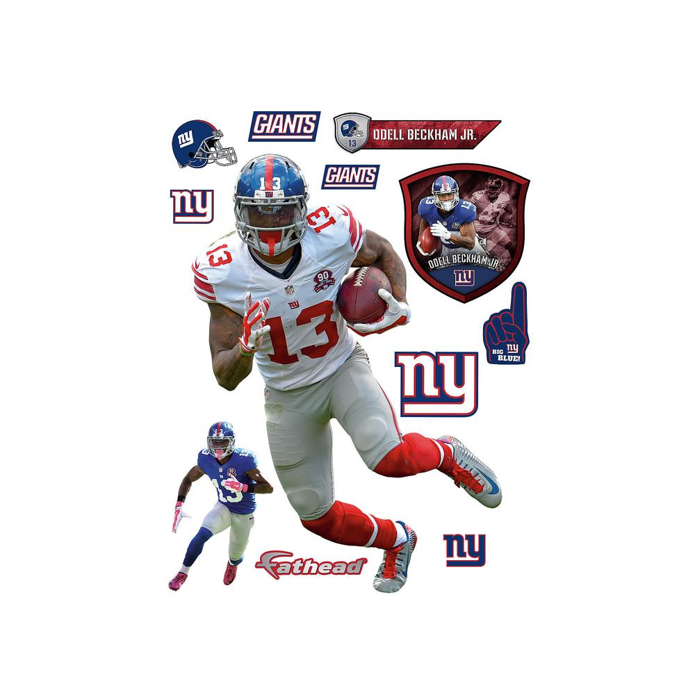 Fathead 72 in. H x 51 in. W Odell Beckham Jr. No. 13 Wall...