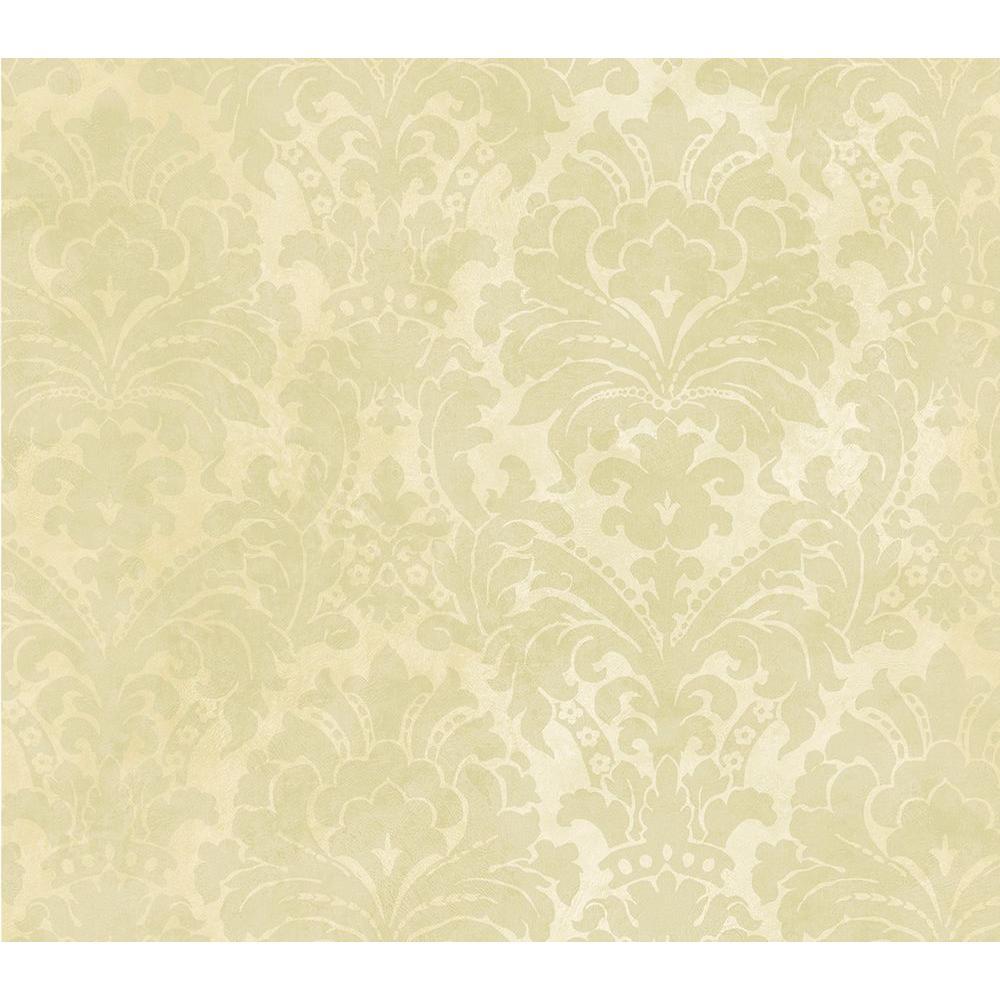 Brewster Mystify Beige Damask Wallpaper 2686-40843